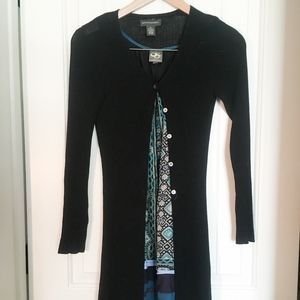 Banana Republic Black Midi Cardigan XS